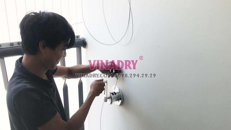 Lắp giàn phơi thông minh HP701 nhà chị Lan, chung cư C1 Xuân Đỉnh, Bắc Từ Liêm, Hà Nội - 03