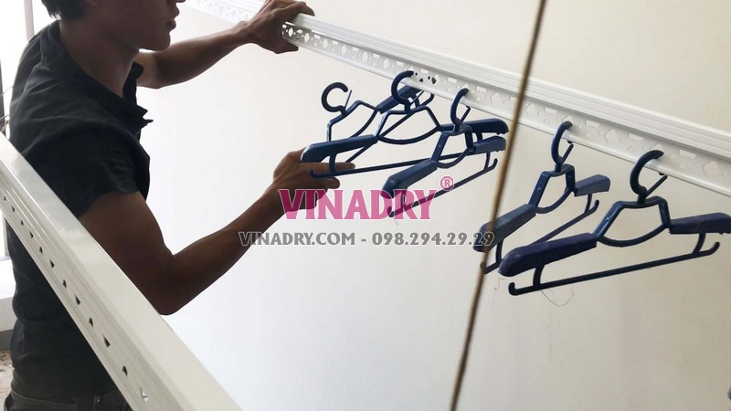 Lắp giàn phơi thông minh HP701 nhà chị Lan, chung cư C1 Xuân Đỉnh, Bắc Từ Liêm, Hà Nội - 04