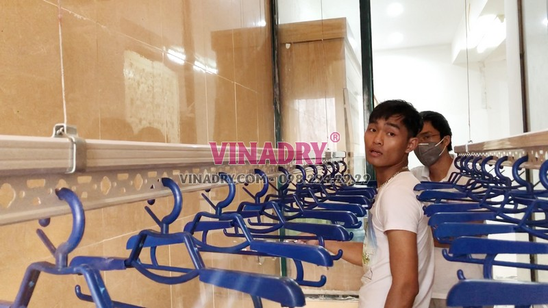 Lắp giàn phơi quần áo thông minh nhà anh Khải, Tòa 3B chung cư Resco Cổ Nhuế - 06