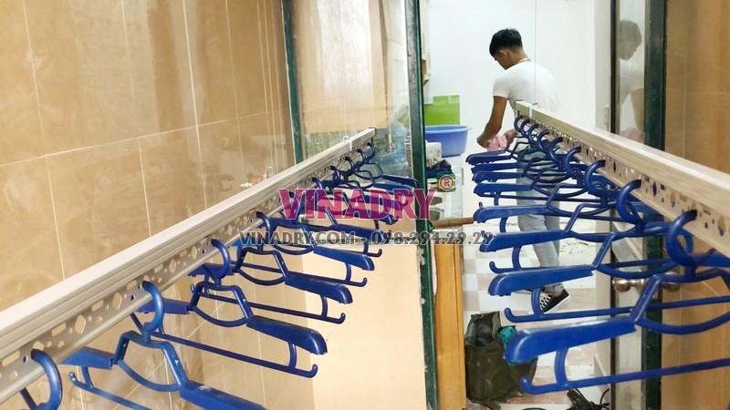 Lắp giàn phơi quần áo thông minh nhà anh Khải, Tòa 3B chung cư Resco Cổ Nhuế - 07