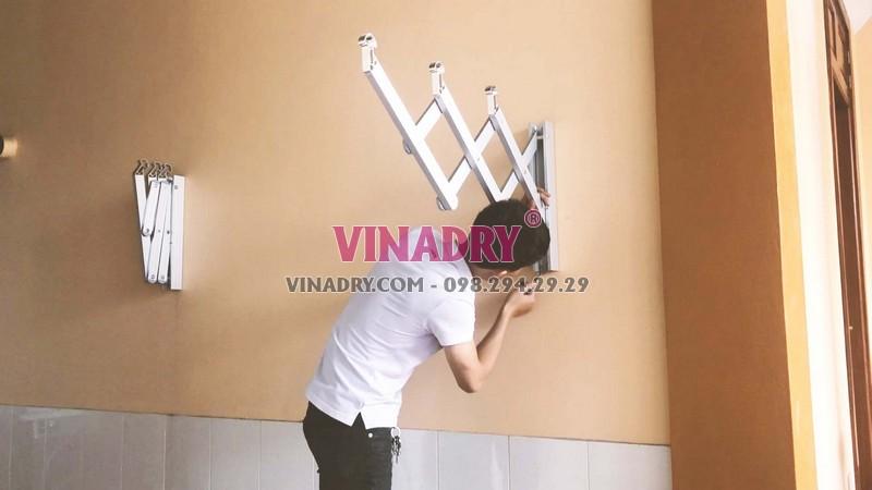 Lắp giàn phơi xếp tường Hòa Phát giá rẻ nhà anh Mạnh, Hà Đông, Hà Nội - 05