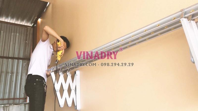 Lắp giàn phơi xếp tường Hòa Phát giá rẻ nhà anh Mạnh, Hà Đông, Hà Nội - 06