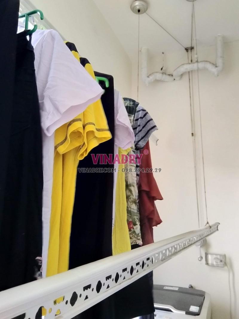 Sửa giàn phơi thông minh giá rẻ tại Hà Nội, thay dây cáp nhà chị Hoa - 04