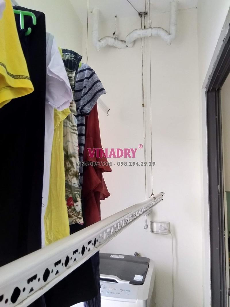 Sửa giàn phơi thông minh giá rẻ tại Hà Nội, thay dây cáp nhà chị Hoa - 05