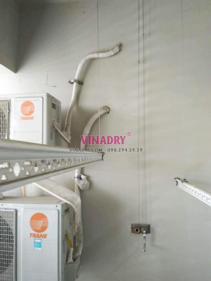 Sửa giàn phơi giá rẻ tại Cầu giấy nhà chị Lành, chung cư N04 Hoàng Đạo Thúy - 02