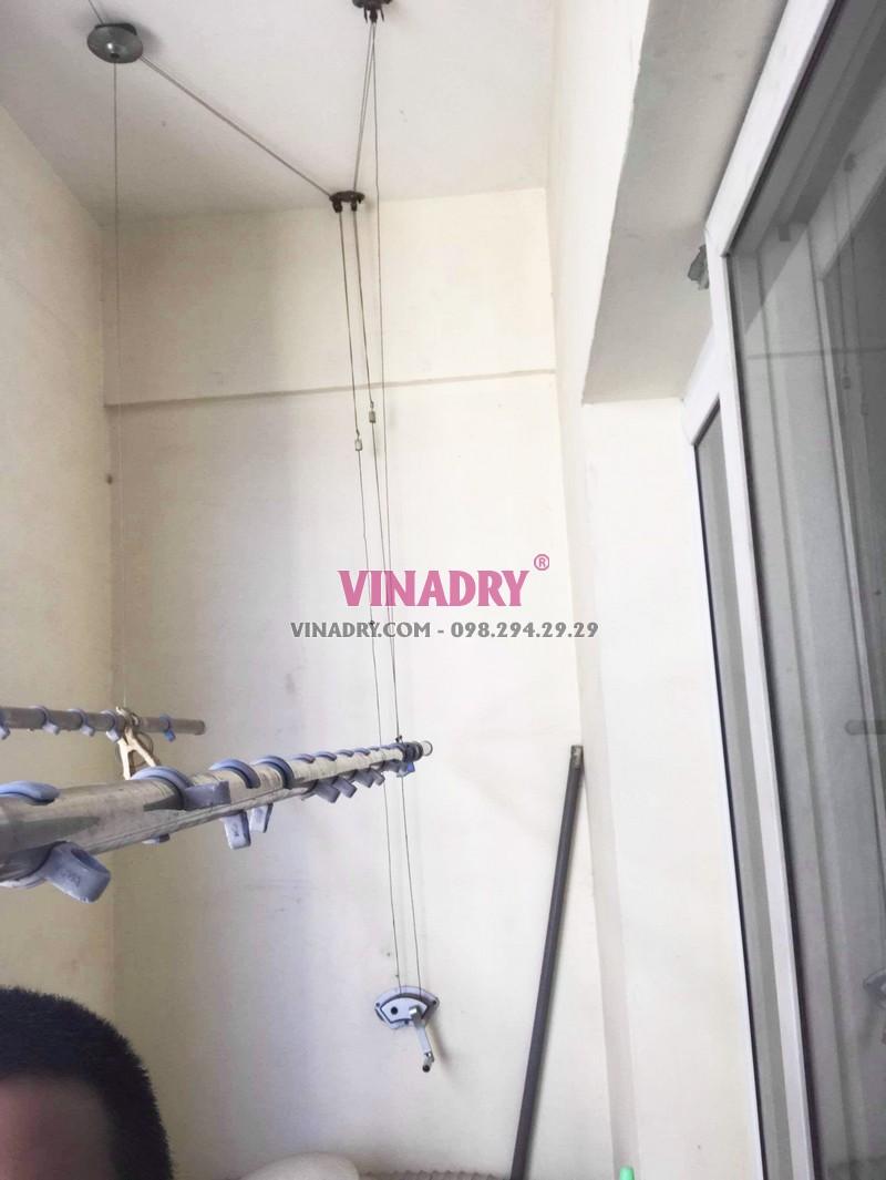 Sửa giàn phơi thông minh giá rẻ nhà chị Nga, 201 Phố Vọng, Hai Bà Trưng, Hà Nội - 03