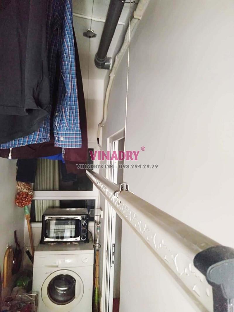 Sửa giàn phơi thông minh đứt dây cáp nhà chị Ngọc, căn 2009, Tòa A Star Tower, Thanh Xuân - 02