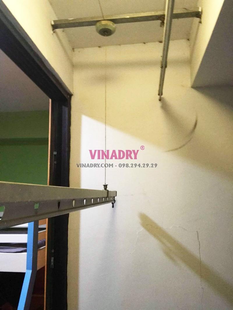 Sửa giàn phơi giá rẻ tại Times City nhà chị Hải: thay dây cáp chỉ 250k - 03