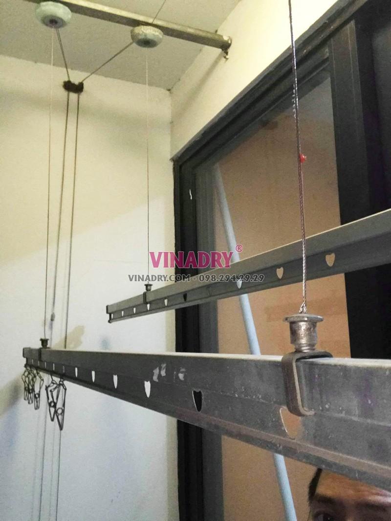 Sửa giàn phơi giá rẻ tại Times City nhà chị Hải: thay dây cáp chỉ 250k - 05