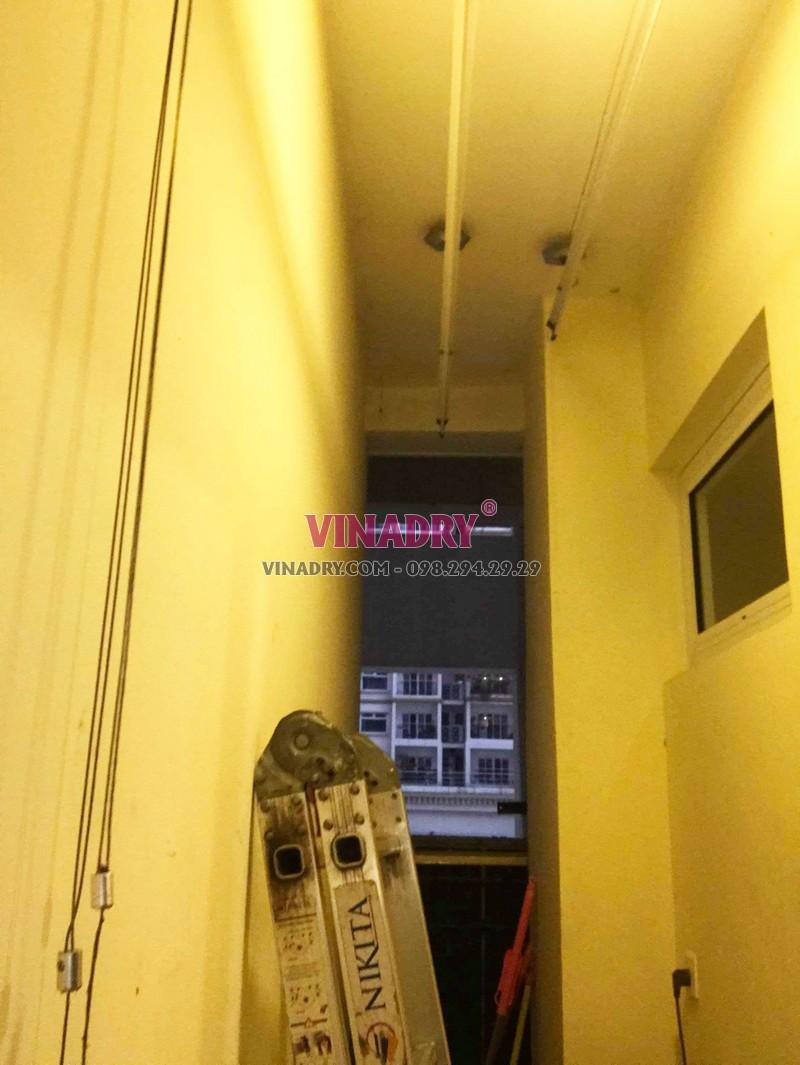 Sửa giàn phơi, thay dây cáp giàn phơi giá rẻ tại chung cư Hòa Bình Green- 01