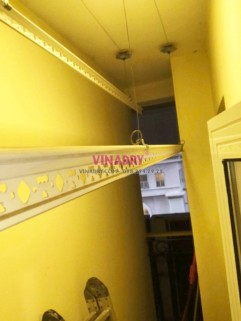 Sửa giàn phơi, thay dây cáp giàn phơi giá rẻ tại chung cư Hòa Bình Green- 02