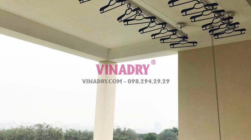 Lắp giàn phơi thông minh giá rẻ tại Long Biên, Hà Nội nhà anh Tiến - 04