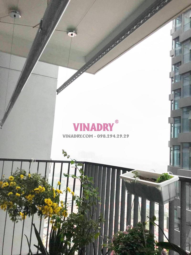 Lắp giàn phơi thông minh cao cấp Vinadry tại chung cư Discovery Cầu giấy nhà anh Hưng - 02