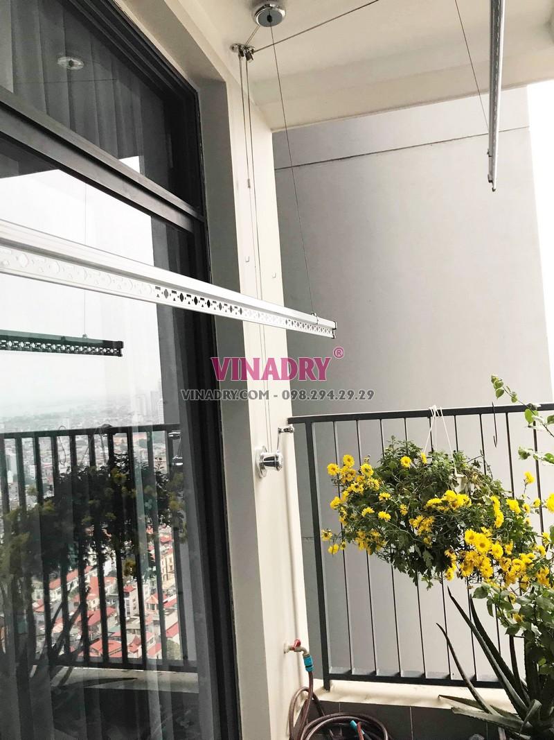 Lắp giàn phơi thông minh cao cấp Vinadry tại chung cư Discovery Cầu giấy nhà anh Hưng - 03