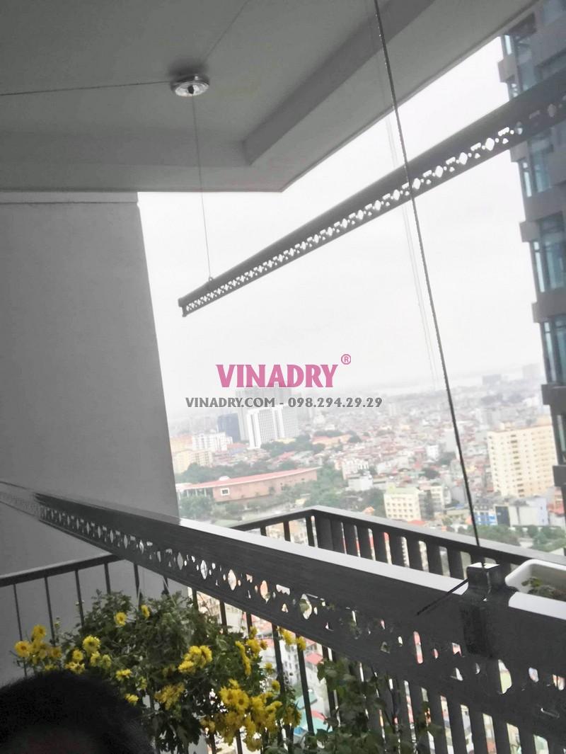 Lắp giàn phơi thông minh cao cấp Vinadry tại chung cư Discovery Cầu giấy nhà anh Hưng - 04