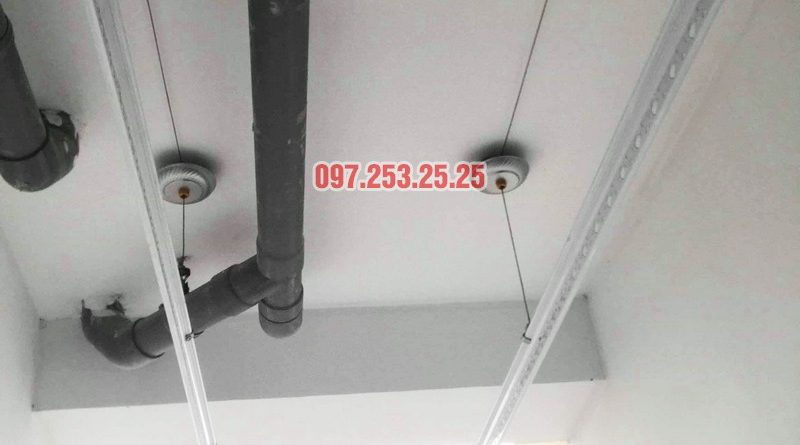 Sửa giàn phơi - thay dây cáp giàn phơi tại chung cư 87 Lĩnh Nam, Hà Nội - 01