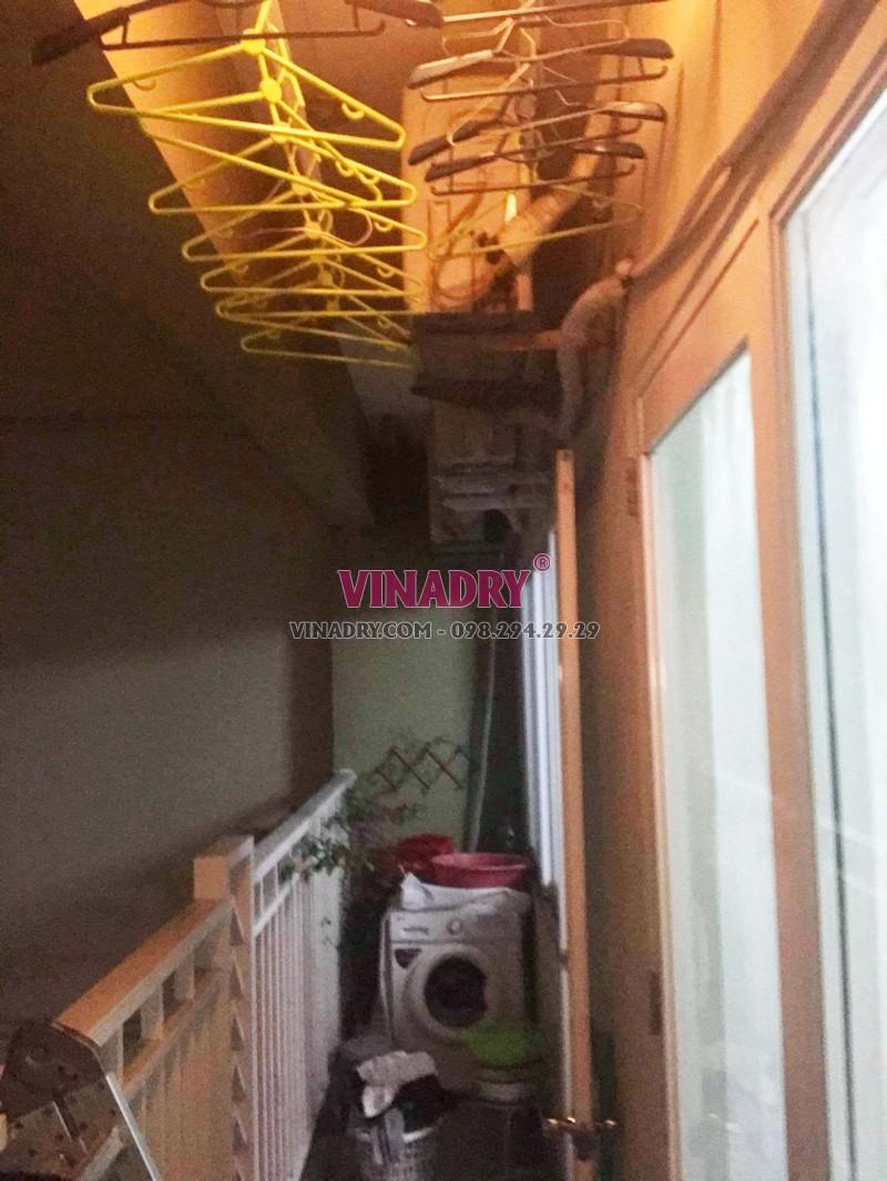 Sửa chữa giàn phơi - thay dây cáp giàn phơi giá rẻ nhà chị Nhi, KĐT Sài Đồng - 03