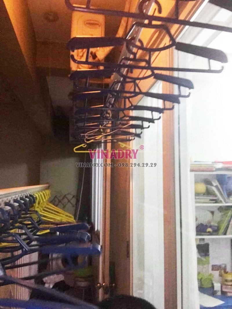 Sửa chữa giàn phơi - thay dây cáp giàn phơi giá rẻ nhà chị Nhi, KĐT Sài Đồng - 01
