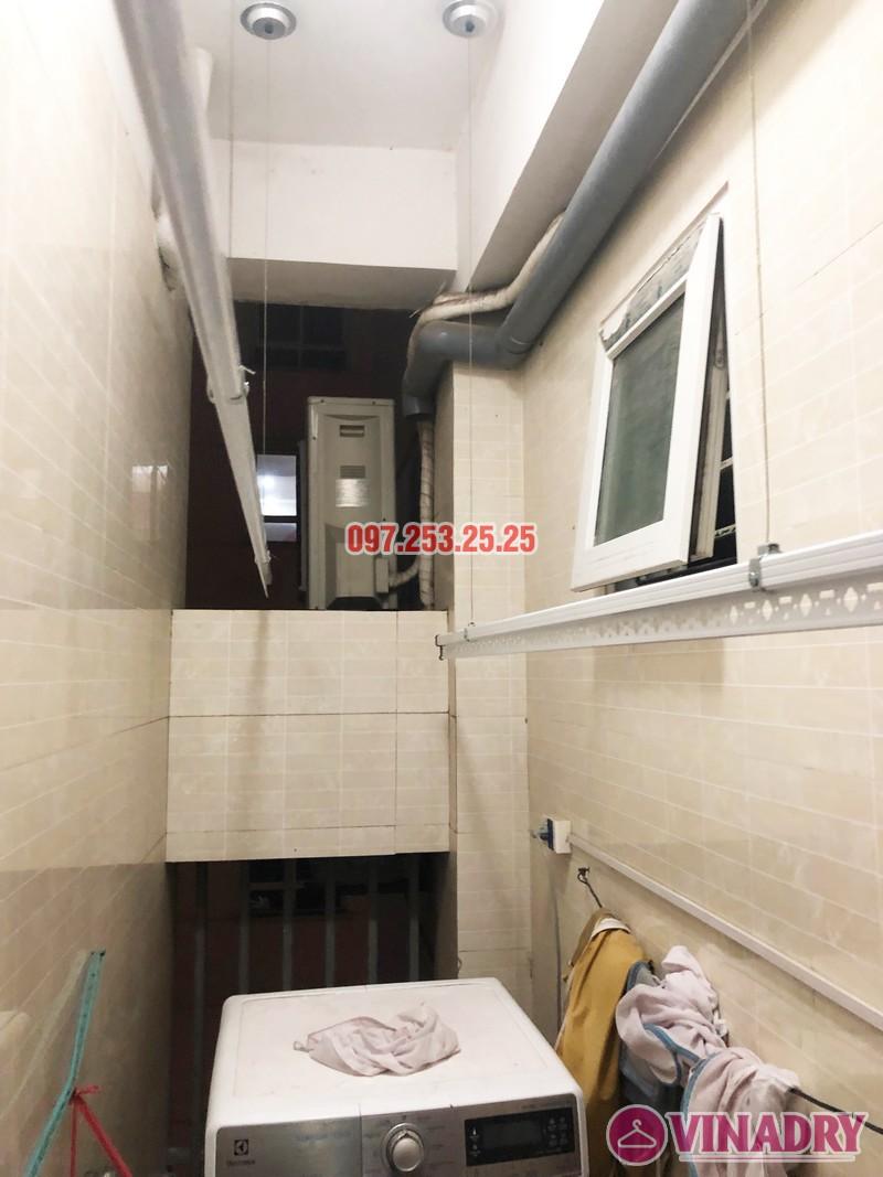 Lắp giàn phơi thông minh Hòa Phát tại chung cư 25 Lạc Trung - 02