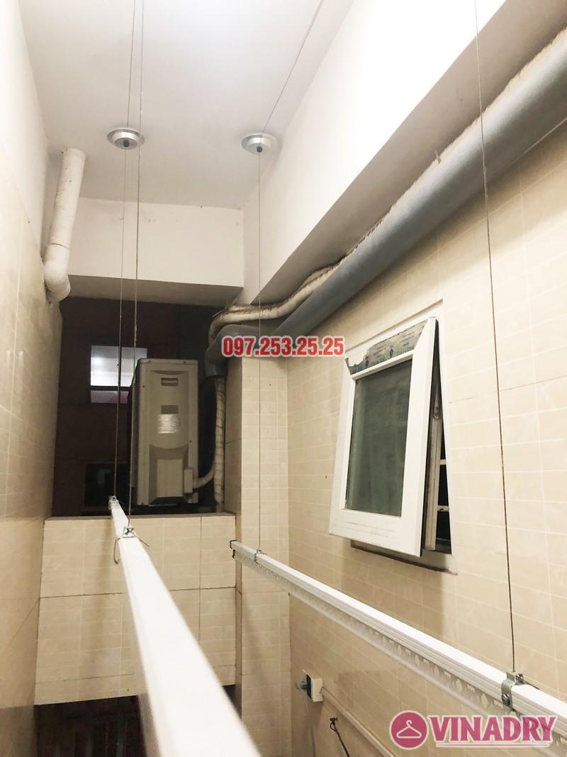 Lắp giàn phơi thông minh Hòa Phát tại chung cư 25 Lạc Trung - 06