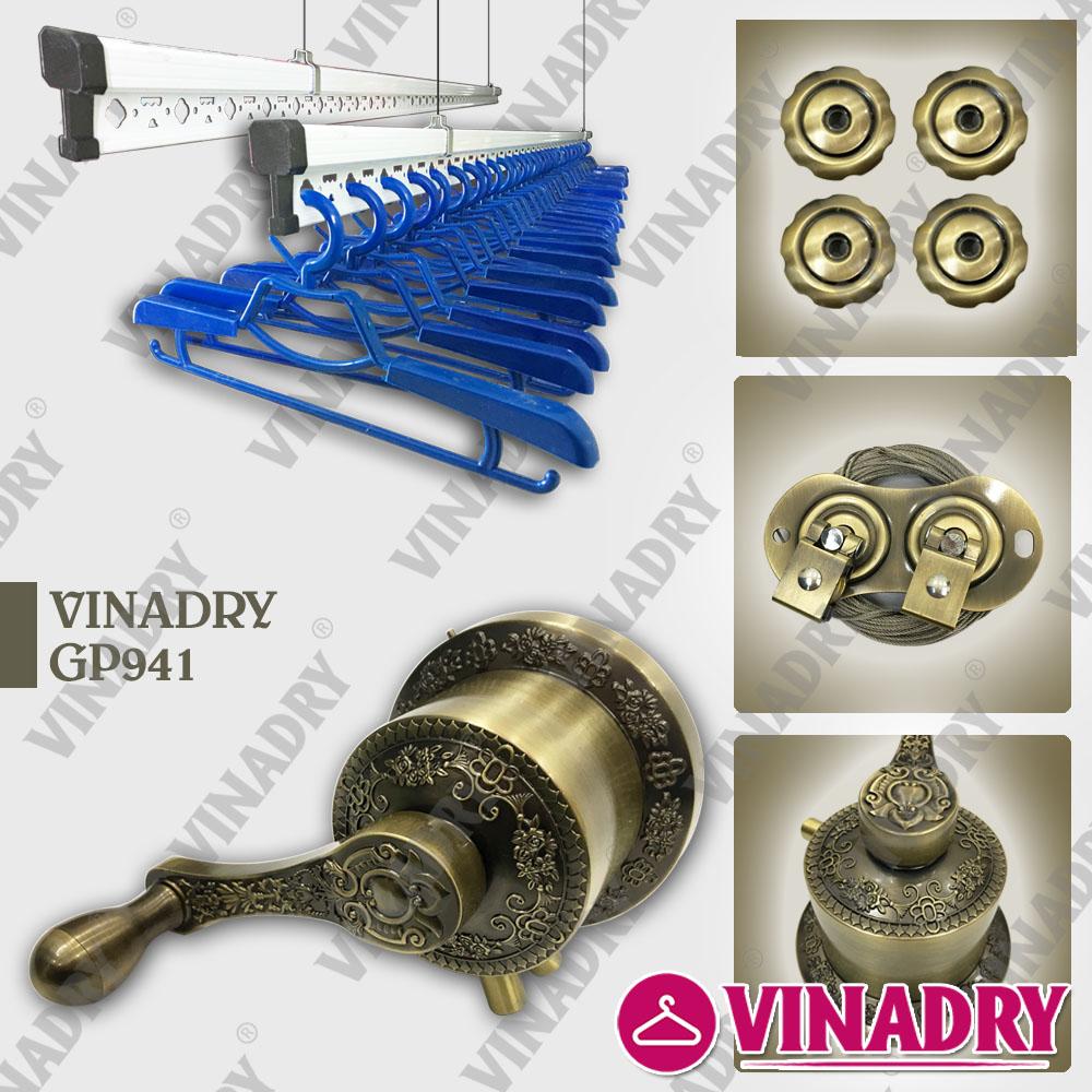 Tìm hiểu về giàn phơi thông minh tay quay đồng trục - VINADRY GP941