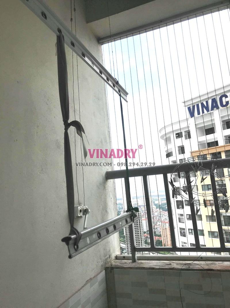 Thay dây cáp giàn phơi giá rẻ nhà anh Thư, tòa CT12C KĐT Kim Văn Kim Lũ, Hà Nội - 07