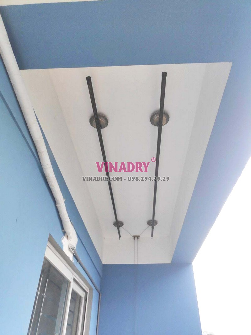 Hình ảnh giàn phơi cao cấp, mẫu mới 2019 Vinadry GP941 lắp tại chung cư C37 Bộ công an