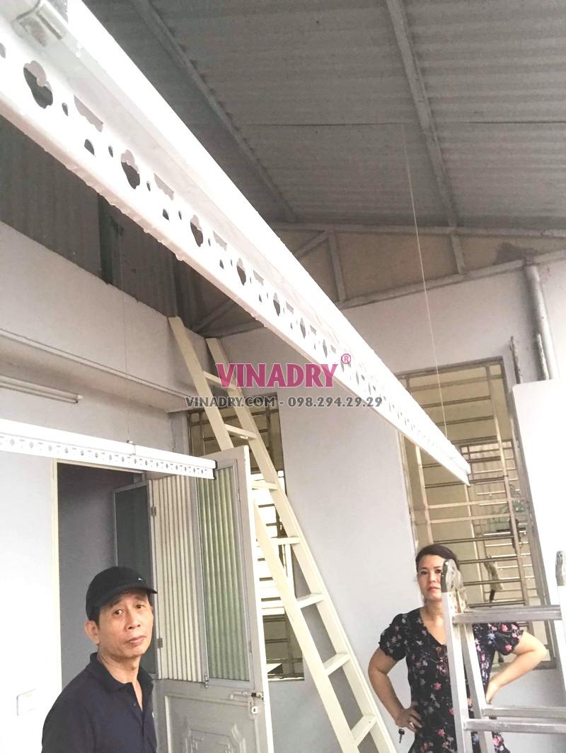 Lắp giàn phơi trần mái tôn giá rẻ tại Hai Bà Trưng nhà chị Vân - 01
