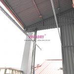 Lắp giàn phơi cho trần mái tôn nhà chị Vân, 31 Lê Qúy Đôn, Hai Bà Trưng, Hà Nội
