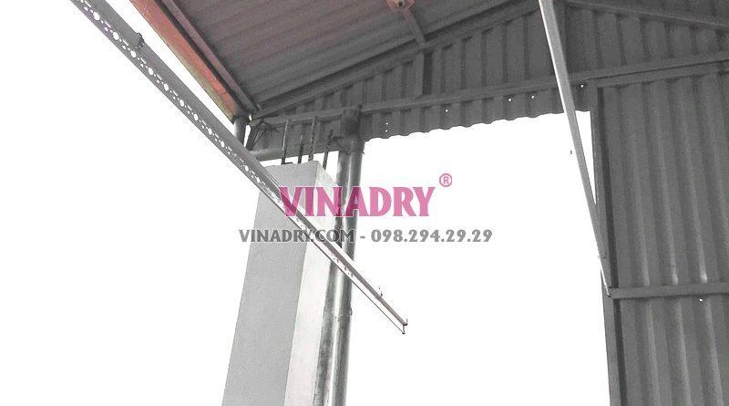 Lắp giàn phơi trần mái tôn giá rẻ tại Hai Bà Trưng nhà chị Vân - 04