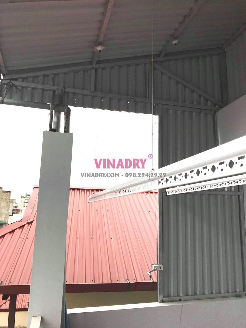 Lắp giàn phơi trần mái tôn giá rẻ tại Hai Bà Trưng nhà chị Vân - 05
