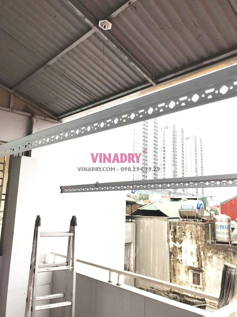 Lắp giàn phơi trần mái tôn giá rẻ tại Hai Bà Trưng nhà chị Vân - 07
