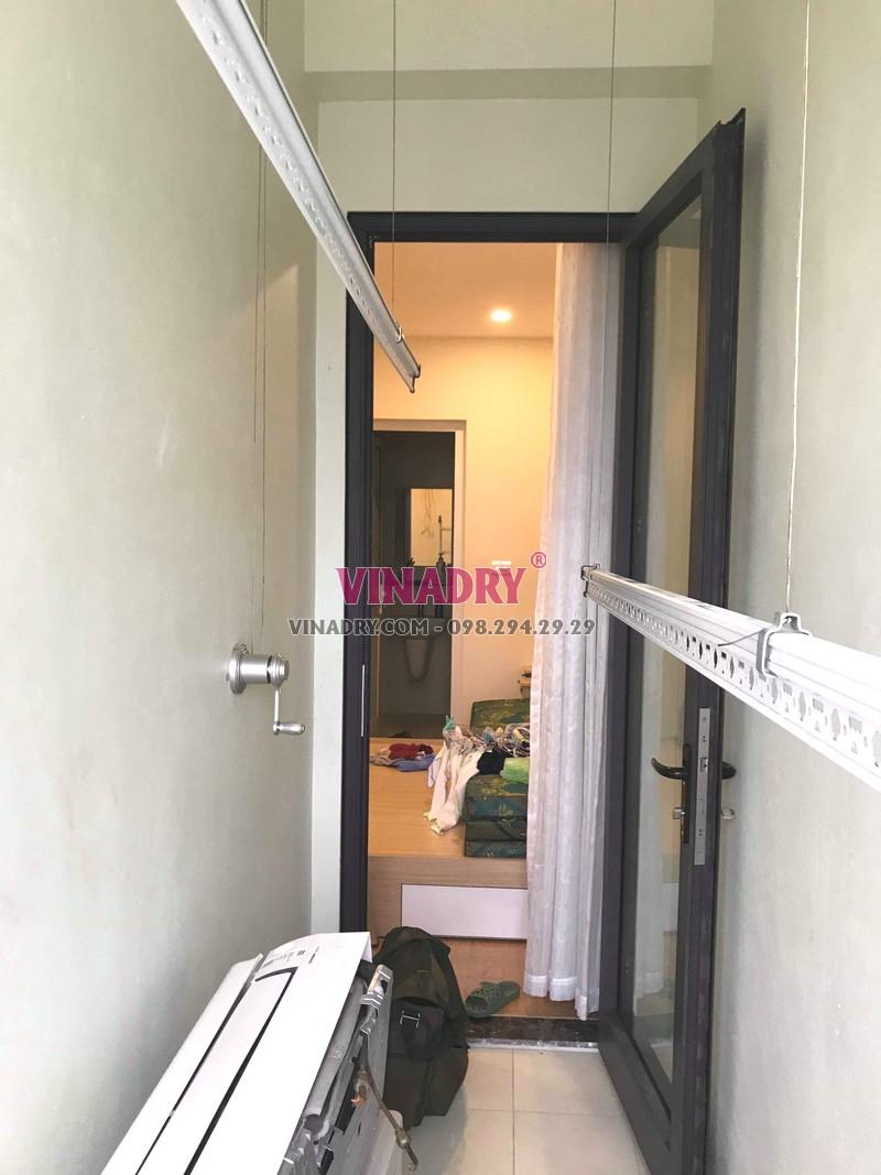 Hình ảnh giàn phơi thông minh giá rẻ KS950 lắp tại nhà anh Vũ, Gelexia Reverside, 885 Tam Trinh - 04