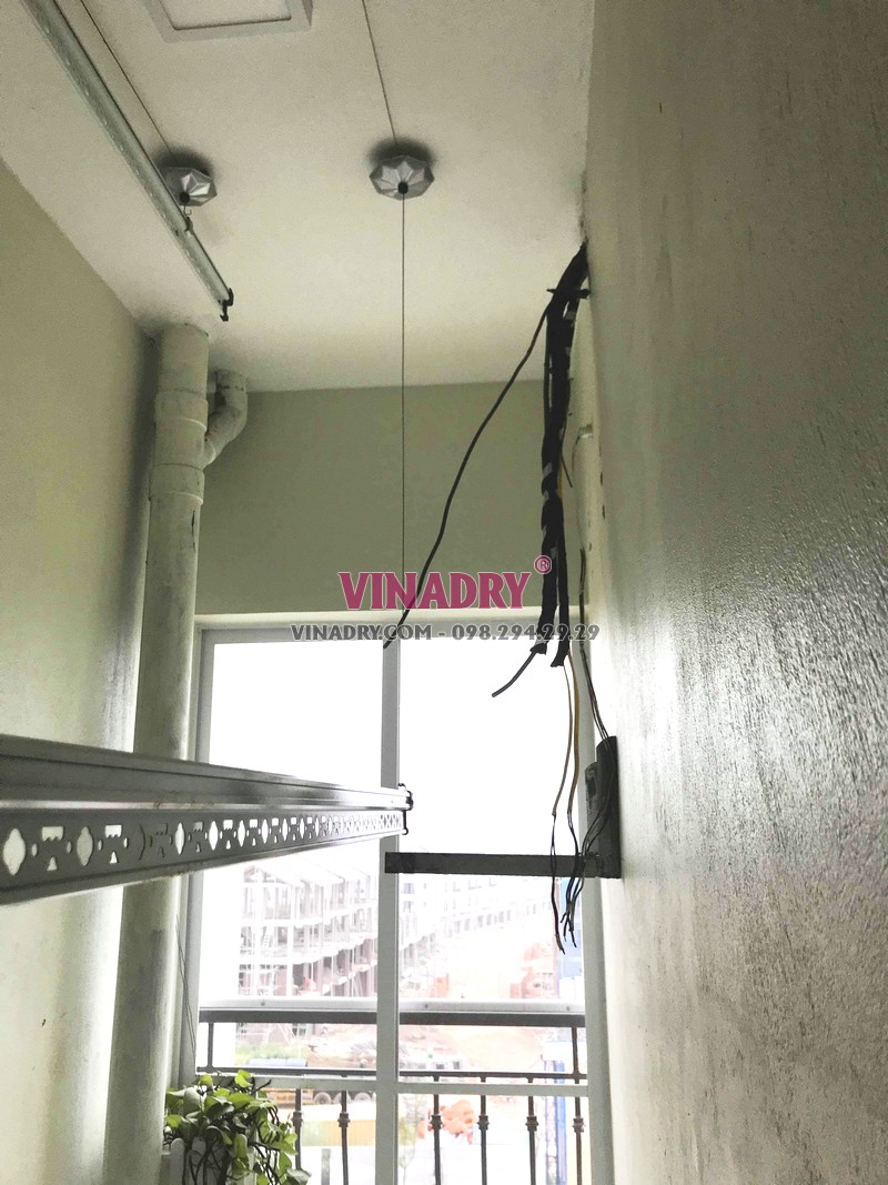 Hình ảnh giàn phơi thông minh giá rẻ KS950 lắp tại nhà anh Vũ, Gelexia Reverside, 885 Tam Trinh - 06