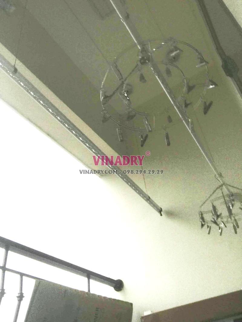Lắp giàn phơi giá rẻ Hòa Phát Star ks950 tại chung cư 885 Tam Trinh, Hoàng Mai Hà Nội nhà chị Tâm - 01