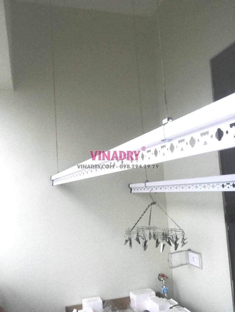 Lắp giàn phơi giá rẻ Hòa Phát Star ks950 tại chung cư 885 Tam Trinh, Hoàng Mai Hà Nội nhà chị Tâm - 04