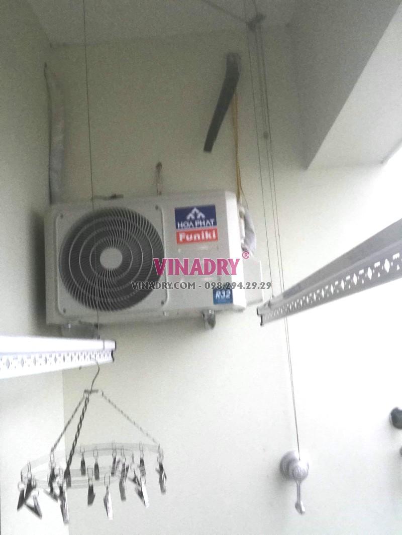 Lắp giàn phơi giá rẻ Hòa Phát Star ks950 tại chung cư 885 Tam Trinh, Hoàng Mai Hà Nội nhà chị Tâm - 05