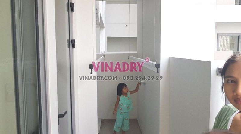 Lắp giàn phơi thông minh tại Quận 9, TPHCM bộ Vinadry GP901 nhà chị Trinh - 02