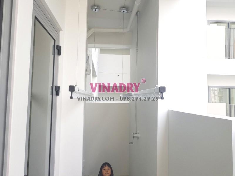 Lắp giàn phơi thông minh tại Quận 9, TPHCM bộ Vinadry GP901 nhà chị Trinh - 04