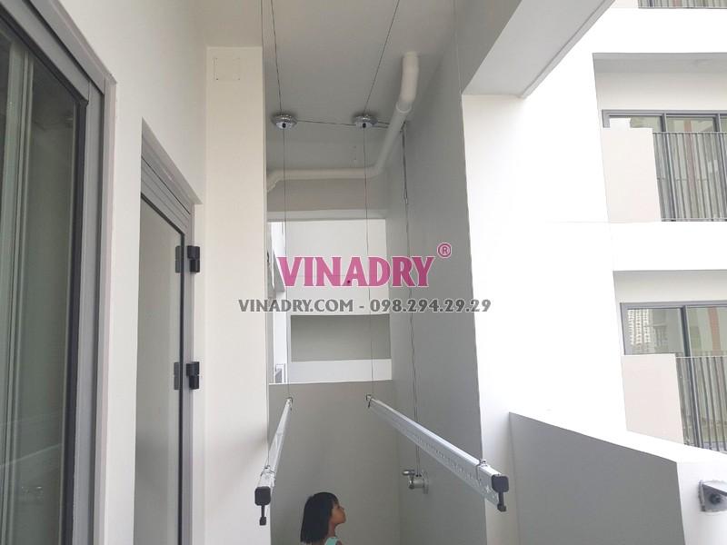Lắp giàn phơi thông minh tại Quận 9, TPHCM bộ Vinadry GP901 nhà chị Trinh - 05