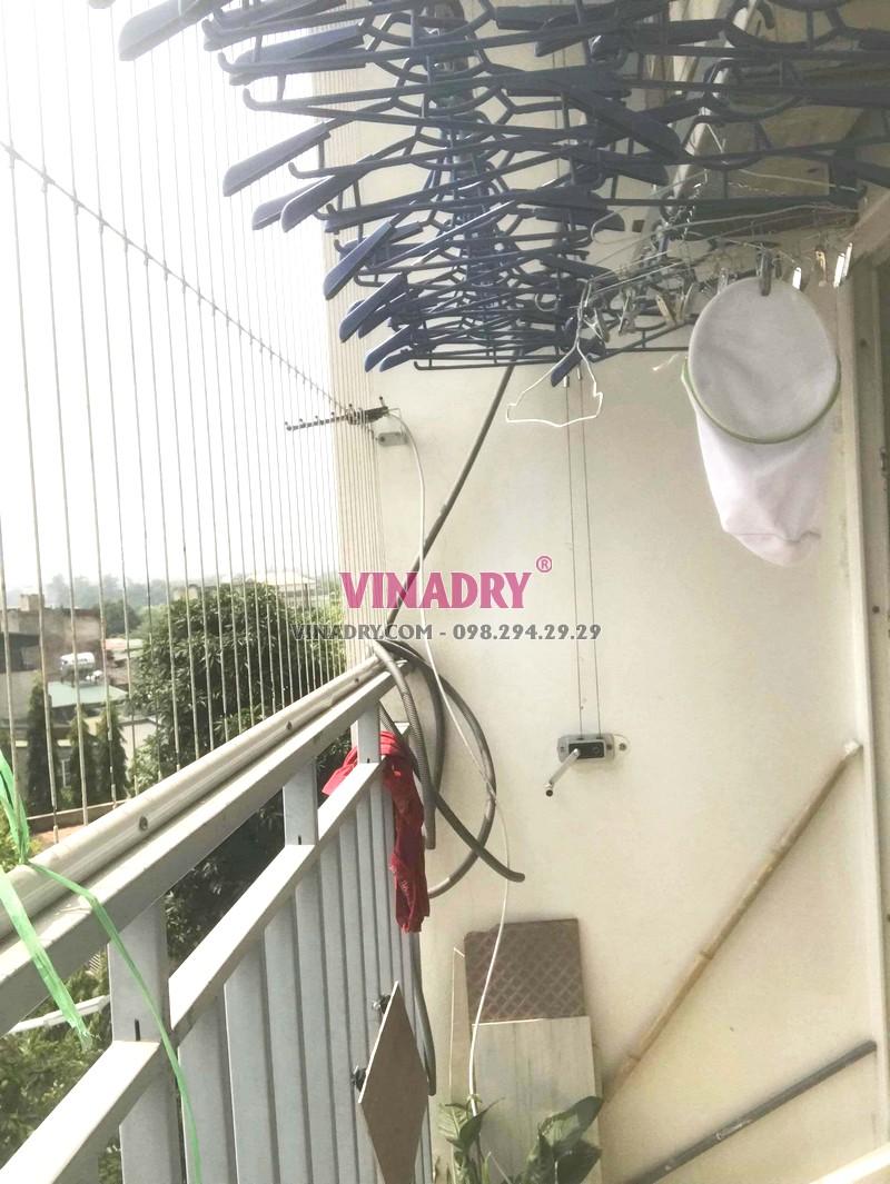 Thay toàn bộ cáp giàn phơi nhà anh Đoàn, chung cư PCC1 Complex, Hà Đông, Hà Nội - 04