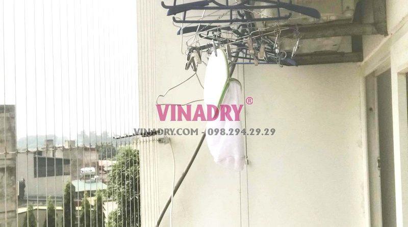 Thay toàn bộ cáp giàn phơi nhà anh Đoàn, chung cư PCC1 Complex, Hà Đông, Hà Nội - 02