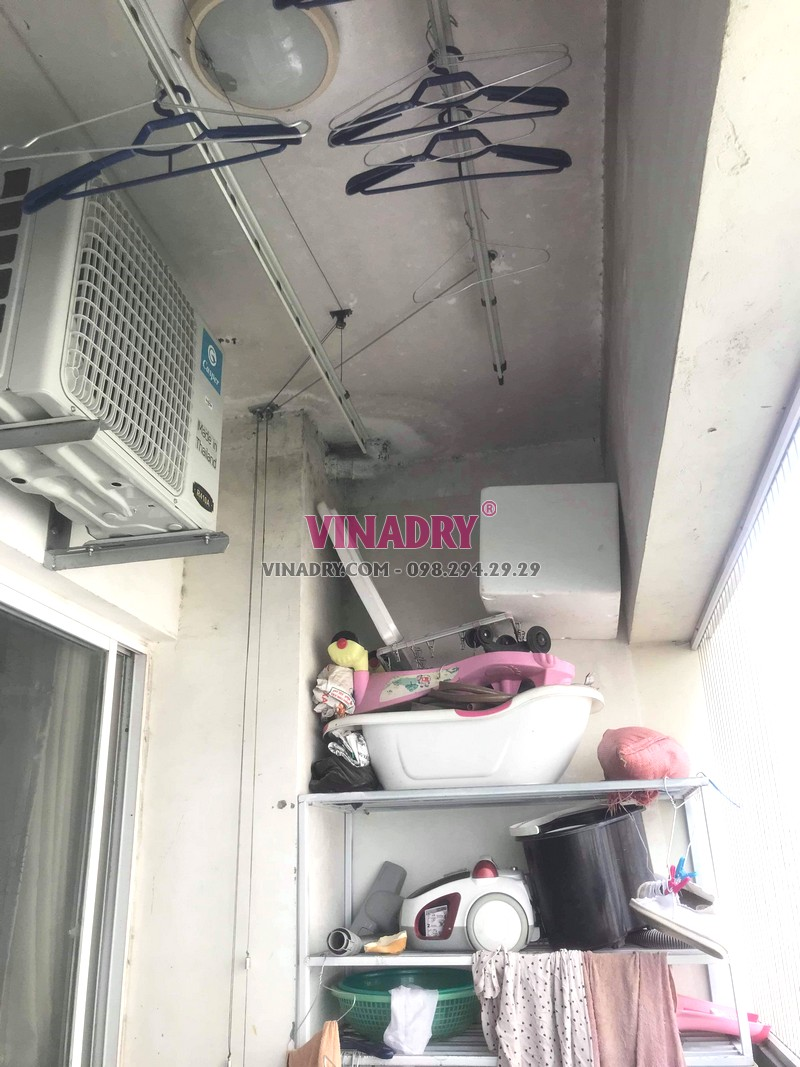 Sửa giàn phơi tại Hà Đông nhà chị Tú, chung cư CT3 Văn Khê - 06