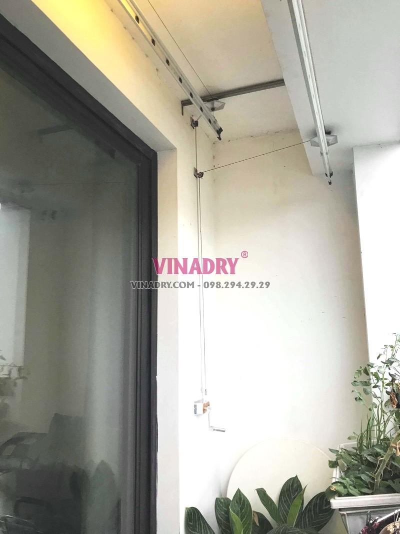 Thay dây cáp giàn phơi giá rẻ tại Times City nhà chị Hạnh, tòa T3 - 04