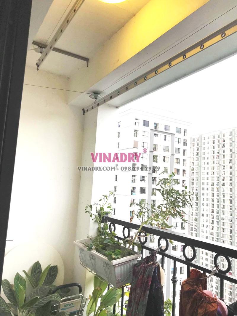 Thay dây cáp giàn phơi giá rẻ tại Times City nhà chị Hạnh, tòa T3 - 06