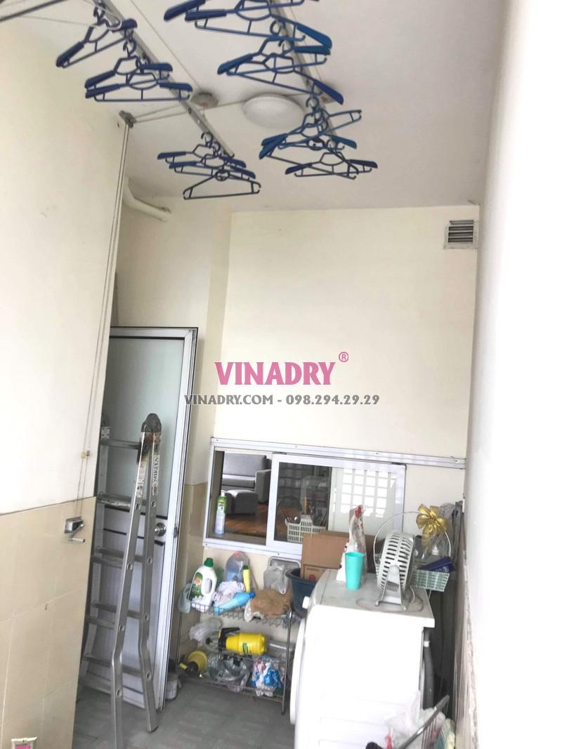 Sửa giàn phơi Nam Từ Liêm giá rẻ tại nhà chị Thành, tòa nhà C'land Lê Đức Thọ - 04