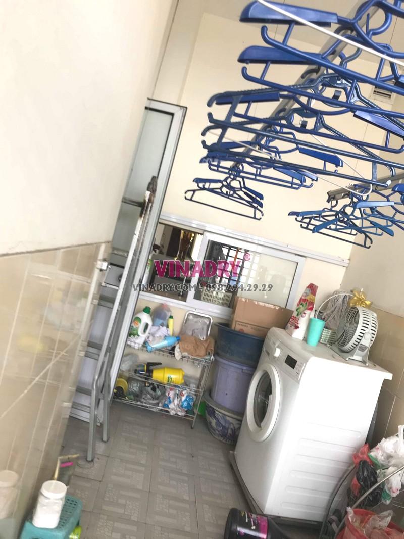 Sửa giàn phơi Nam Từ Liêm giá rẻ tại nhà chị Thành, tòa nhà C'land Lê Đức Thọ - 03
