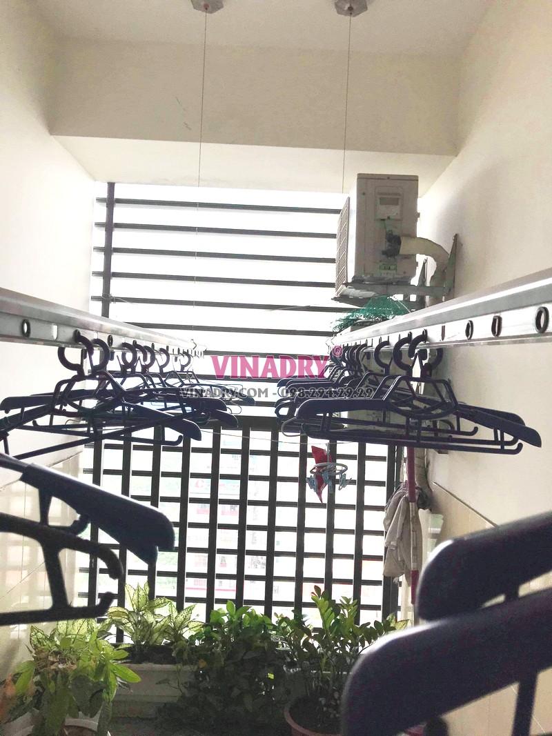 Sửa giàn phơi Nam Từ Liêm giá rẻ tại nhà chị Thành, tòa nhà C'land Lê Đức Thọ - 01