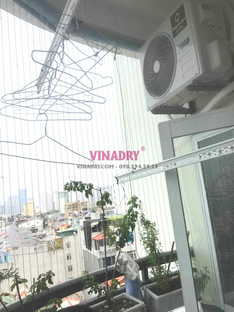 Sửa giàn phơi tại Thanh Xuân, thay dây cáp giá rẻ nhà chị Nhung, chung cư A2 Nguyễn Xiển - 05