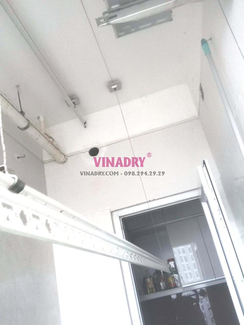 Sửa giàn phơi thông minh bị đứt dây cáp nhà chị Phúc, chung cư Golden place, Nam Từ Liêm, Hà Nội - 07